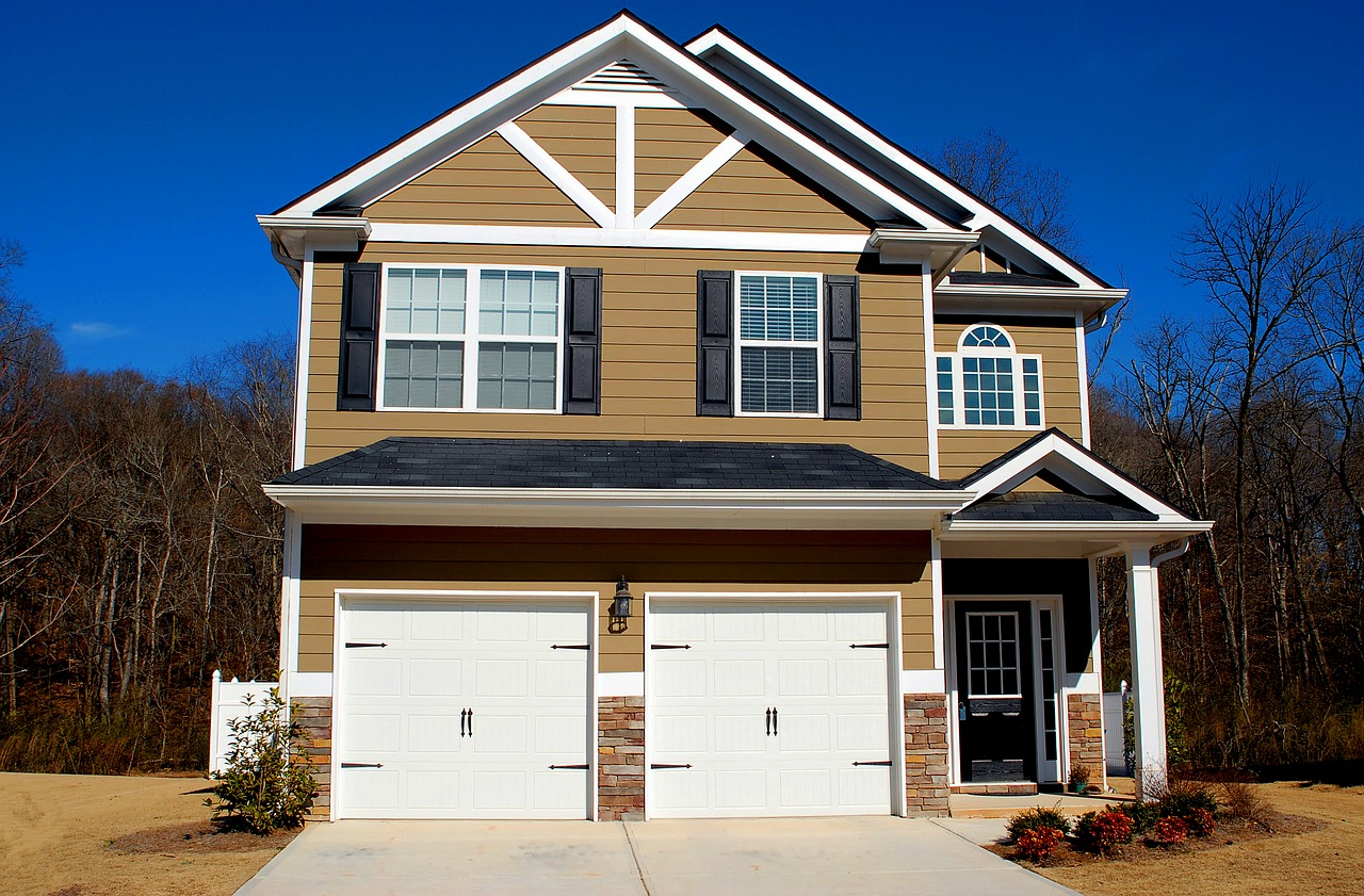 Two-garage new construction home.